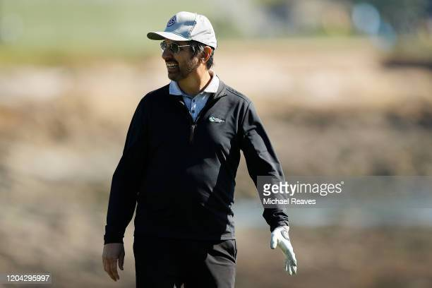 Actor Ray Romano looks on from the 18th hole during the 3M Celebrity Challenge prior to the ATT Pebble Beach ProAm at Pebble Beach Golf Links on...