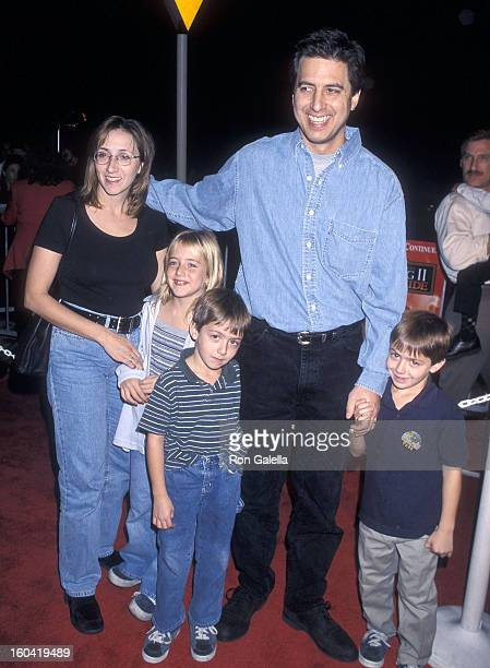 Actor Ray Romano wife Anna daughter Alexandra and sons Matthew and Gregory attend The Lion King 2 Simba's Pride Westwood Premiere on October 20 1998...