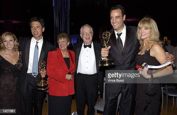 Actor Ray Romano with wife Anna Scarpulla Romano's parents actor Brad Garrett with wife Jill Diven attend the Governor's Ball for the 54th Annual...