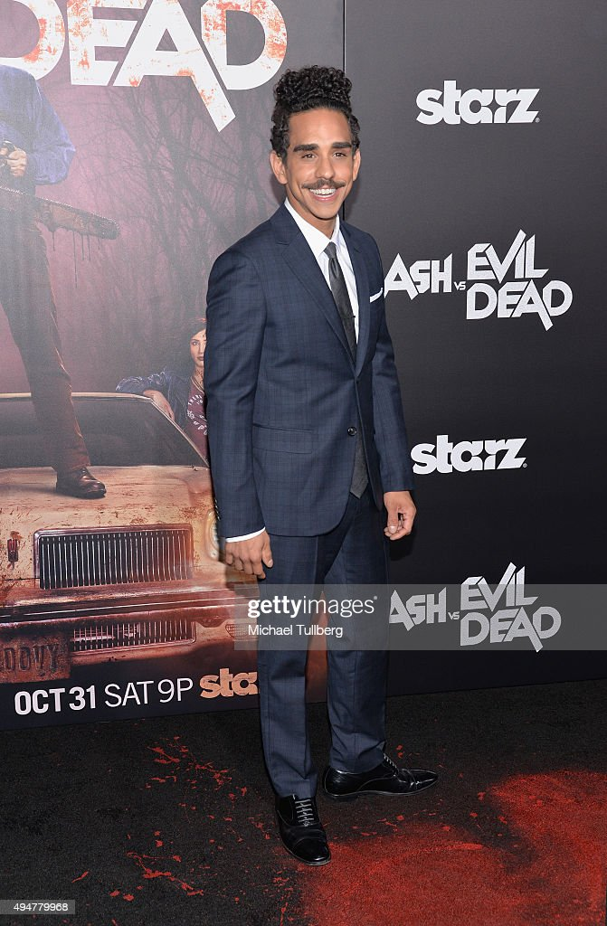 Actor Ray Santiago attends the premiere of STARZ's 'Ash vs Evil Dead' at TCL Chinese Theatre on October 28, 2015 in Hollywood, California.
