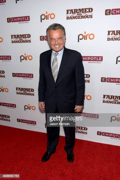 Actor Ray Wise walks the red carpet at the world premiere of 'Farmed and Dangerous' a Chipotle/Piro production at DGA Theater on February 11 2014 in...