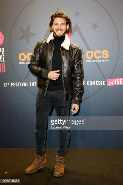 Actor Rayane Bensetti attends 'La Finale' Premiere during the 21st Alpe D'Huez International Comedy Film Festival on January 17 2018 in Alpe d'Huez...