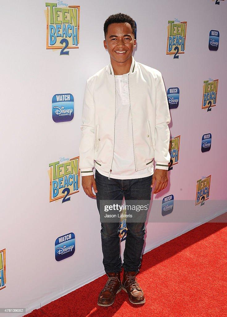 Actor Raymond Alexander Cham Jr. attends the premiere of 'Teen Beach 2' at Walt Disney Studios on June 22, 2015 in Burbank, California.