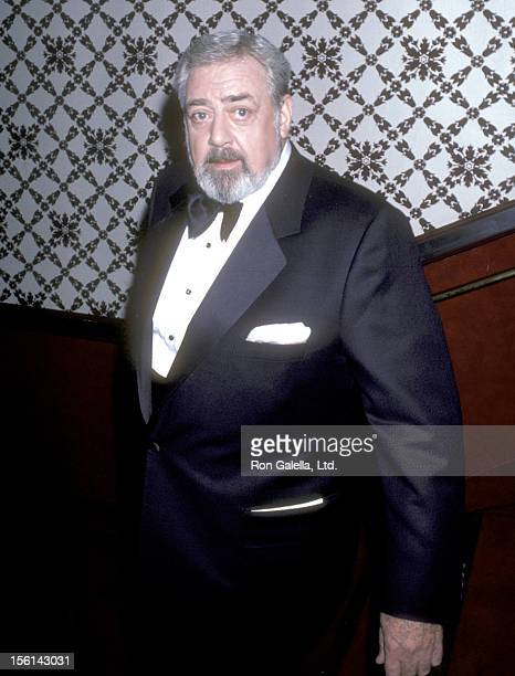 Actor Raymond Burr attends the 13th Annual International Emmy Awards on November 25 1985 at Sheraton Centre Hotel in New York City
