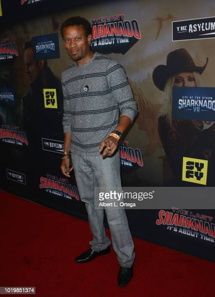 Actor Raymond Williams arrives for the Premiere Of The Asylum And Syfy's 'The Last Sharknado It's About Time' held at Cinemark Playa Vista on August...