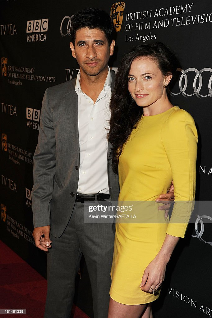 Actor Raza Jaffrey and Lara Pulver attend the BAFTA LA TV Tea 2013 presented by BBC America and Audi held at the SLS Hotel on September 21, 2013 in Beverly Hills, California.