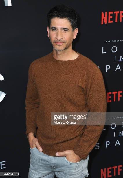 Actor Raza Jaffrey arrives for the Premiere Of Netflix's 'Lost In Space' Season 1 held at The Cinerama Dome on April 9 2018 in Los Angeles California