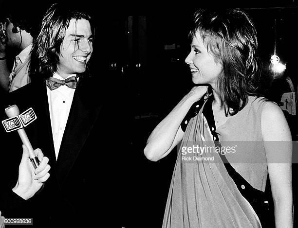 Actor Rebecca De Mornay and boyfriend Tom Cruise attend the Atlanta premiere of Neil Simon's The Slugger's Wife filmed in Atlanta at The Limelight in...