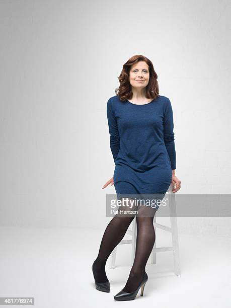 Actor Rebecca Front is photographed for the Observer on May 14 2014 in London England