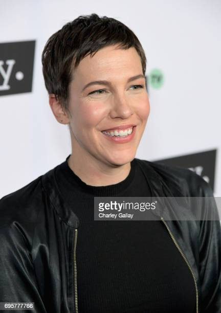 """Actor Rebecca Henderson at the premiere screening of truTV's new scripted comedy """"I'm Sorry"""" at the SilverScreen Theater at the Pacific Design Center..."""