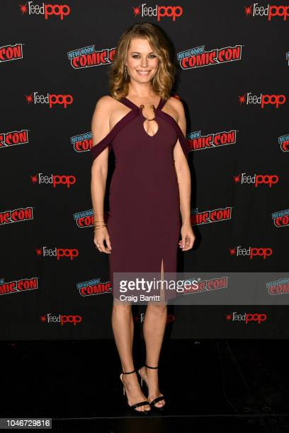 Actor Rebecca Romijn attends the Star Trek Discovery panel during New York Comic Con at The Hulu Theater at Madison Square Garden on October 6 2018...