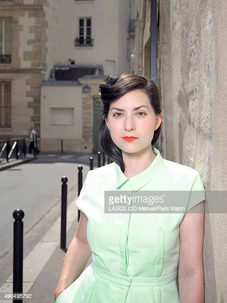 Actor Rebecca Zlotowski is photographed for Paris Match on July 9 2013 in Paris France