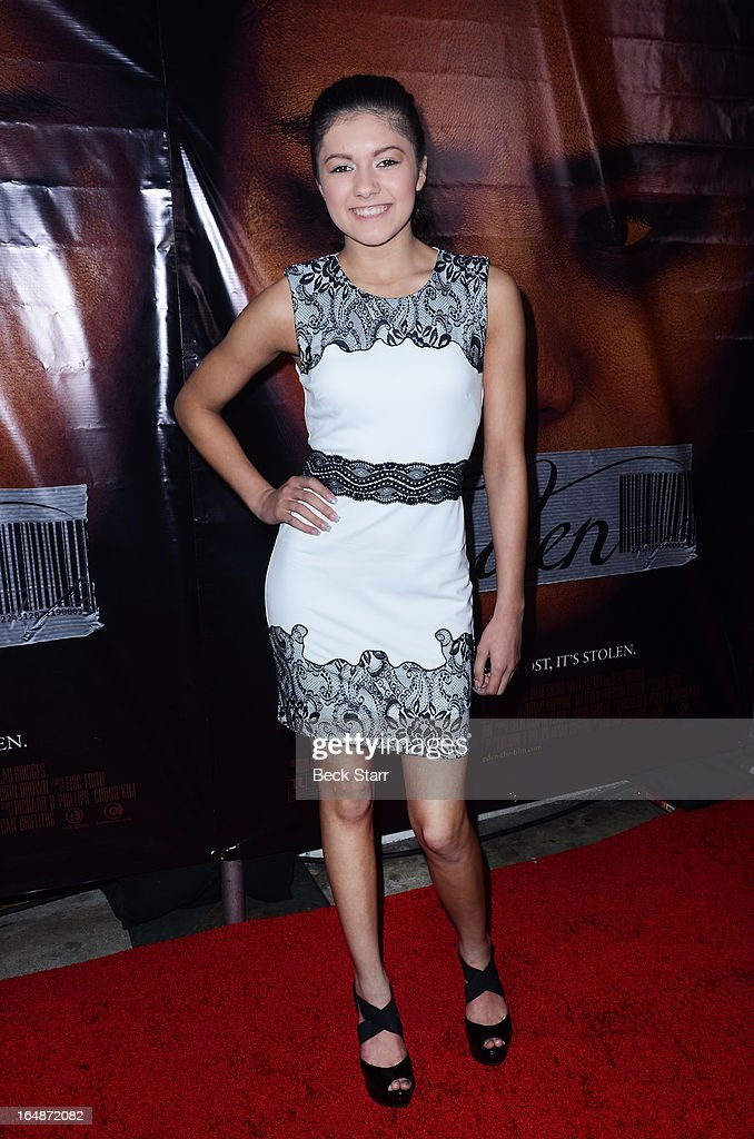 Actor Recording artitst Cheyanne Garcia arrives at the Los Angeles premiere of 'Eden' at Laemmle Music Hall on March 28, 2013 in Beverly Hills, California.