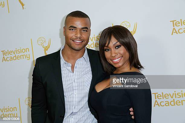 Actor Redaric Williams and actress Angell Conwell attend the Television Academy Daytime Emmy Nominee reception at The London West Hollywood on June...