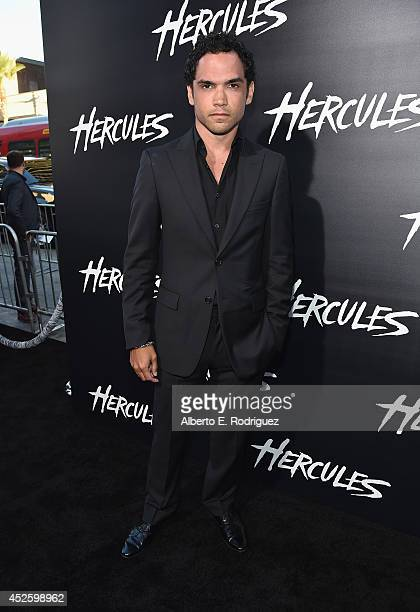 Actor Reece Ritchie arrives to the premiere of Paramount Pictures' 'Hercules' at the TCL Chinese Theatre on July 23 2014 in Hollywood California