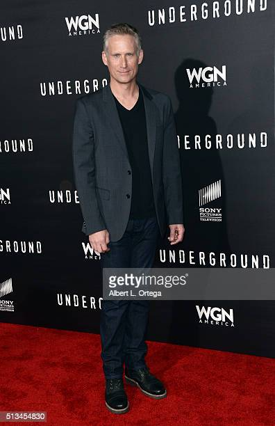 """Actor Reed Diamond arives for the Premiere Of WGN America's """"Underground"""" held at The Theatre At The Ace Hotel on March 2, 2016 in Los Angeles,..."""