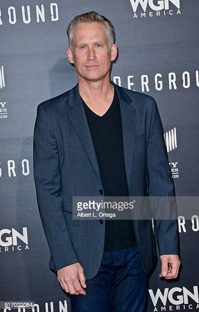 """Actor Reed Diamond arrives for the Premiere Of WGN America's """"Underground"""" at The Theatre At The Ace Hotel on March 2, 2016 in Los Angeles,..."""