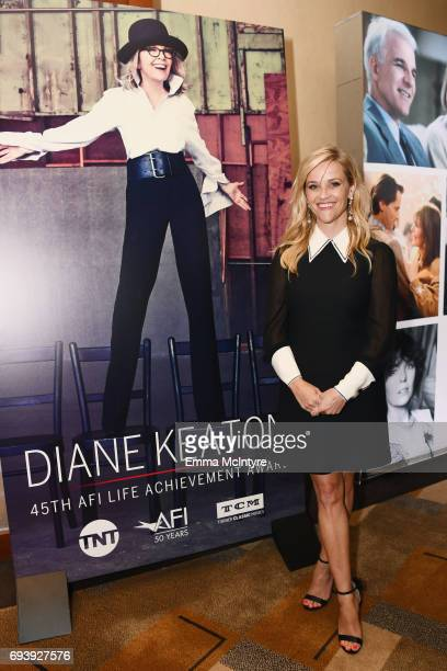 Actor Reese Witherspoon arrives at the reception during American Film Institute's 45th Life Achievement Award Gala Tribute to Diane Keaton at Dolby...