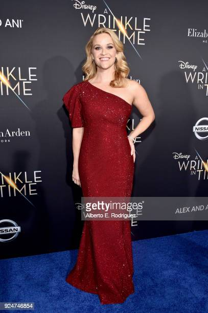 Actor Reese Witherspoon arrives at the world premiere of Disney's 'A Wrinkle in Time' at the El Capitan Theatre in Hollywood CA Feburary 26 2018