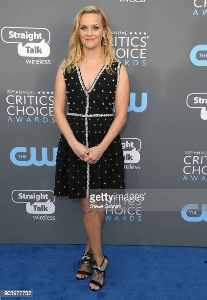 Actor Reese Witherspoon attends The 23rd Annual Critics' Choice Awards at Barker Hangar on January 11 2018 in Santa Monica California