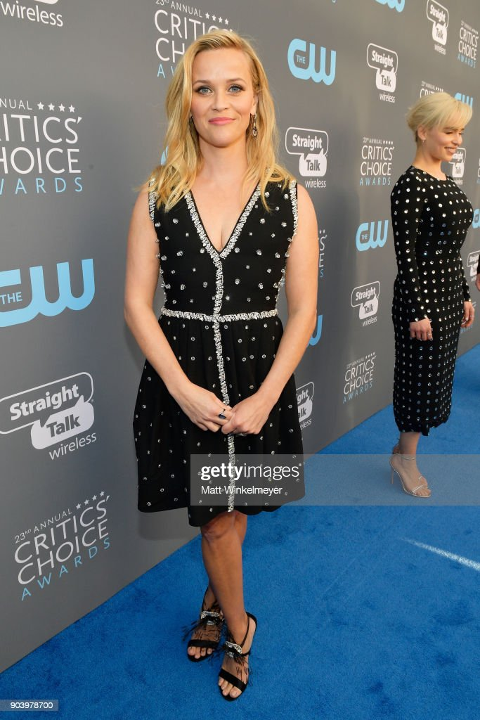 Actor Reese Witherspoon attends The 23rd Annual Critics' Choice Awards at Barker Hangar on January 11, 2018 in Santa Monica, California.