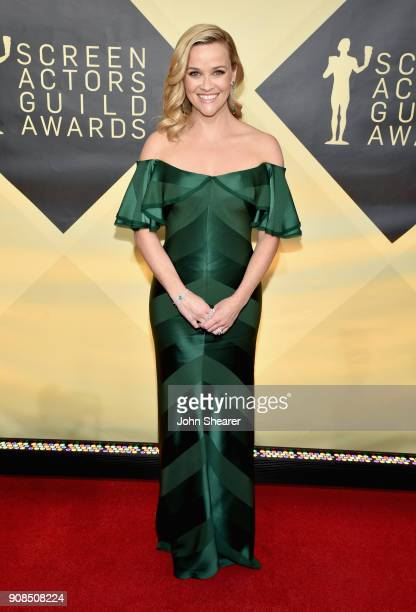 Actor Reese Witherspoon attends the 24th Annual Screen Actors Guild Awards at The Shrine Auditorium on January 21, 2018 in Los Angeles, California.