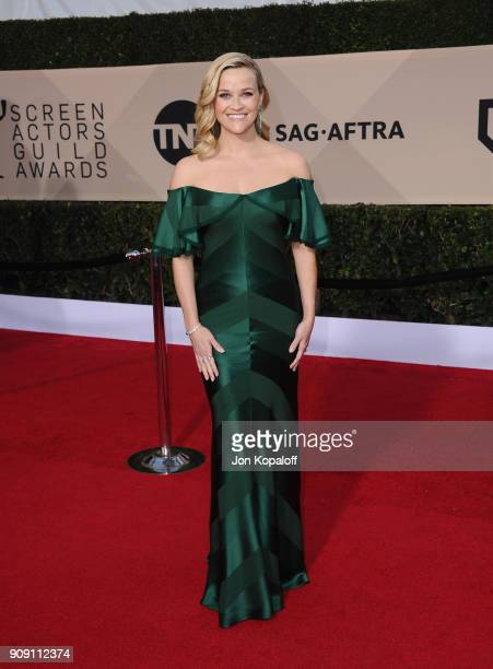Actor Reese Witherspoon attends the 24th Annual Screen Actors Guild Awards at The Shrine Auditorium on January 21 2018 in Los Angeles California
