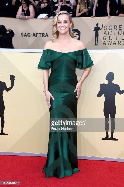 Actor Reese Witherspoon attends the 24th Annual Screen ActorsGuild Awards at The Shrine Auditorium on January 21 2018 in Los Angeles California