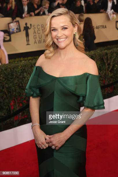 Actor Reese Witherspoon attends the 24th Annual Screen ActorsGuild Awards at The Shrine Auditorium on January 21, 2018 in Los Angeles, California.