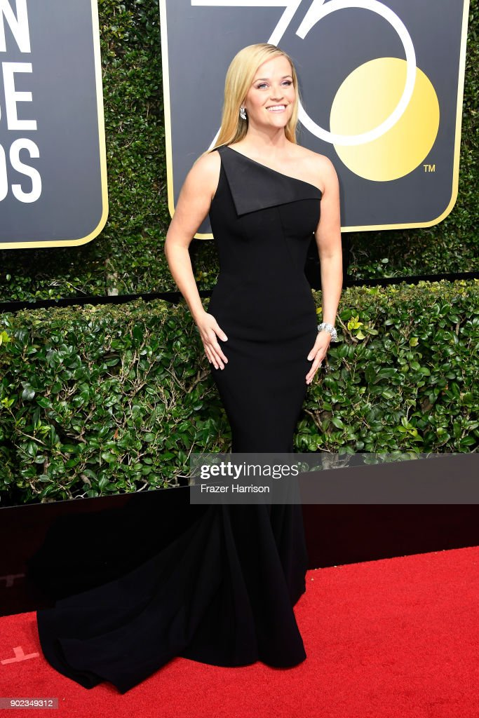 Actor Reese Witherspoon attends The 75th Annual Golden Globe Awards at The Beverly Hilton Hotel on January 7, 2018 in Beverly Hills, California.