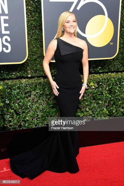 Actor Reese Witherspoon attends The 75th Annual Golden Globe Awards at The Beverly Hilton Hotel on January 7 2018 in Beverly Hills California