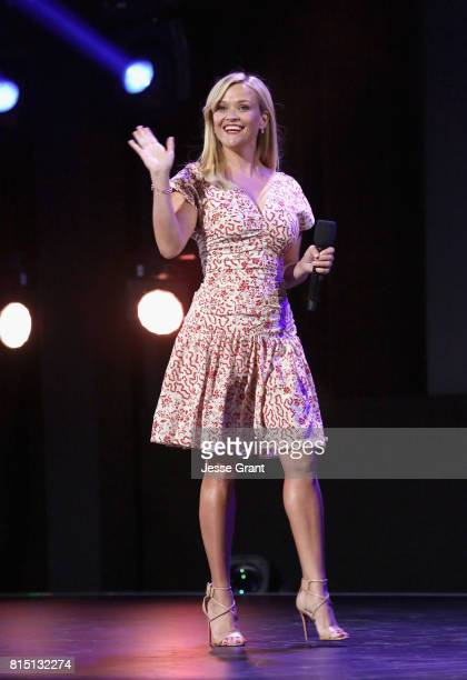 Actor Reese Witherspoon of A WRINKLE IN TIME took part today in the Walt Disney Studios live action presentation at Disney's D23 EXPO 2017 in Anaheim...
