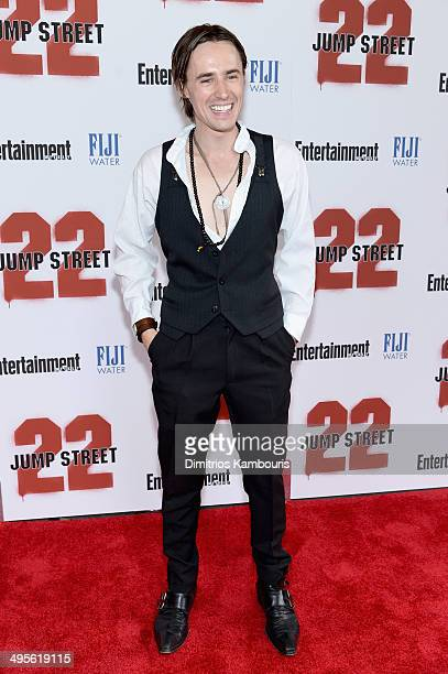 Actor Reeve Carney attends the New York screening of 22 Jump Street at AMC Lincoln Square Theater on June 4 2014 in New York City