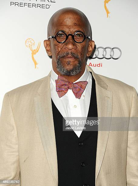 Actor Reg E Cathey attends the Television Academy's celebration for the 67th Emmy Award nominees for outstanding performances at Pacific Design...