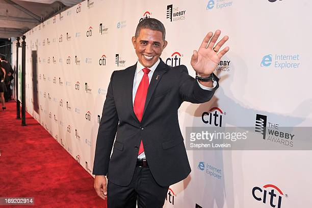 Actor Reggie Brown, Obama impersonator, attends the 17th Annual Webby Awards at Cipriani Wall Street on May 21, 2013 in New York City.