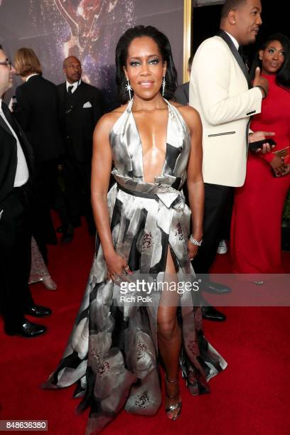 Actor Regina King walks the red carpet during the 69th Annual Primetime Emmy Awards at Microsoft Theater on September 17 2017 in Los Angeles...