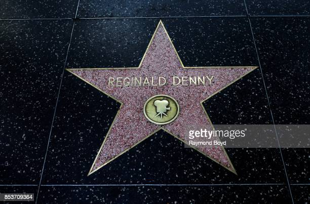 Actor Reginald Denny's star along the Hollywood Stars Walk of Fame in Hollywood California on September 10 2017