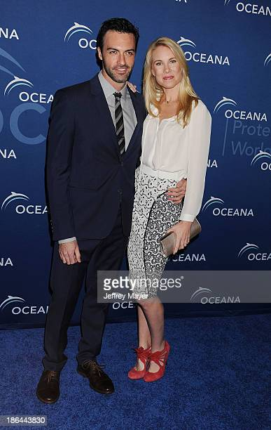 Actor Reid Scott and actress Elspeth Keller arrive at the Oceana Partners Award Gala With Former Secretary Of State Hillary Rodham Clinton and HBO...