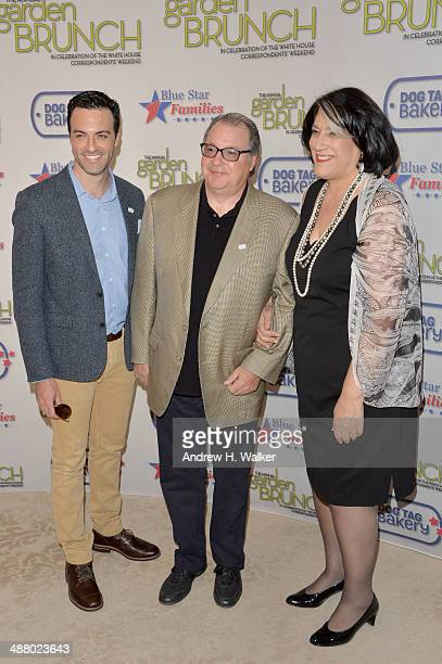Actor Reid Scott Kevin Dunn and Tammy Haddad attend the 2014 Annual Garden Brunch at the BeallWashington House on May 3 2014 in Washington DC