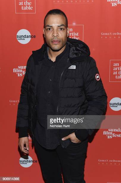 Actor Reinaldo Marcus Green attends An Artist at the Table Cocktail Reception and Dinner during the 2018 Sundance Film Festival at DeJoria Center on...