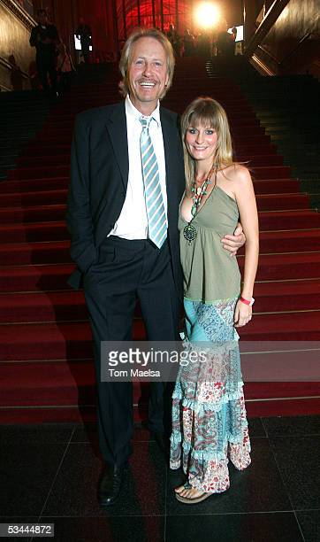 Actor Reiner Schoene and Anja Drendel attend the Reminder's Day AIDS Gala at Rotes Rathaus in Berlin on August 20 2005 in Berlin Germany