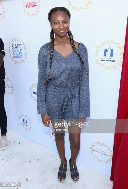 Actor Reiya Downs attends Safe Kids Day 2017 at Smashbox Studios on April 23 2017 in Culver City California