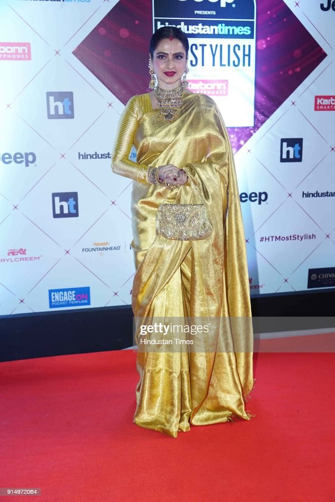 Actor Rekha during Hindustan Times India`s Most Stylish Awards 2018 at Yash Raj Studios Andheri on January 24 2018 in Mumbai India
