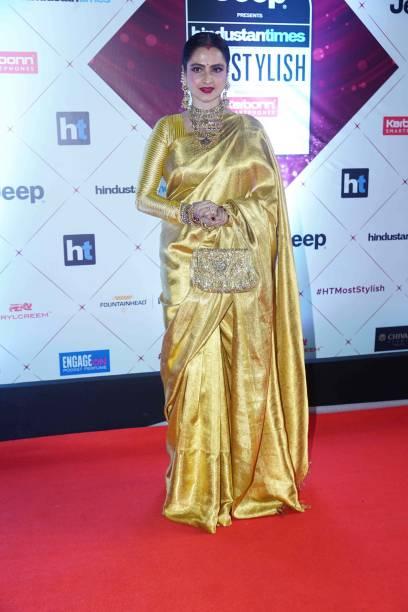 Actor Rekha during Hindustan Times India`s Most Stylish Awards 2018 at Yash Raj Studios Andheri on January 24 2018 in Mumbai India