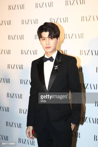 Actor Ren Jialun arrives at the red carpet of 2017 Bazaar Star Charity Night on September 9 2017 in Beijing China
