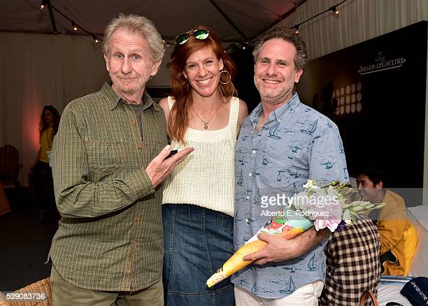 Actor Rene Auberjonois actress/writer Kate Nowlin and filmmaker Remy Auberjonois attend the 2016 Los Angeles Film Festival Awards Ceremony at the...