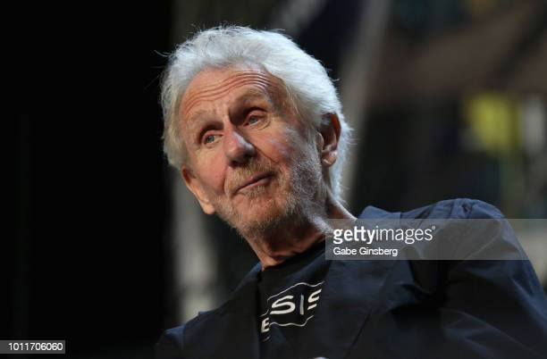 Actor Rene Auberjonois speaks at the 'Director's Cut' panel during the 17th annual official Star Trek convention at the Rio Hotel Casino on August 5...