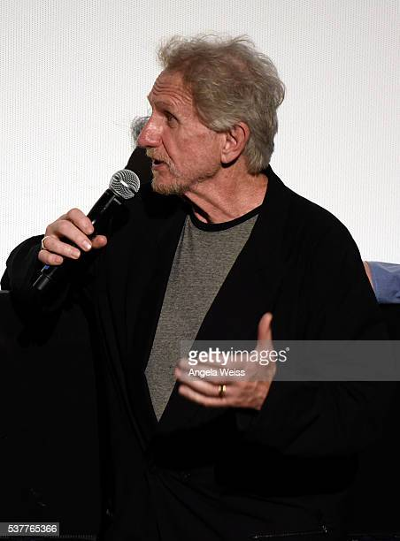Actor Rene Auberjonois speaks onstage at the premiere of 'Blood Stripe' during the 2016 Los Angeles Film Festival at Arclight Cinemas Culver City on...