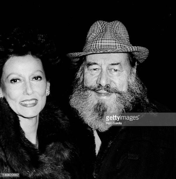 Actor Rex Harrison and wife Mercia Harrison attend the cast party for Heartbreak House on December 7 1983 at Luchow's in New York City