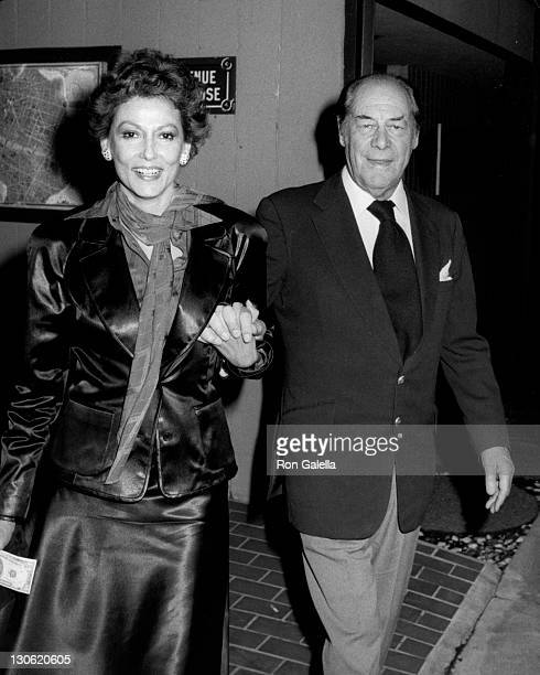 Actor Rex Harrison and wife Mercia Harrison sighted on March 2 1981 at Ma Maison Restaurant in West Hollywood California